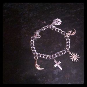 Sterling Silver Charm Bracelet w/ Charms
